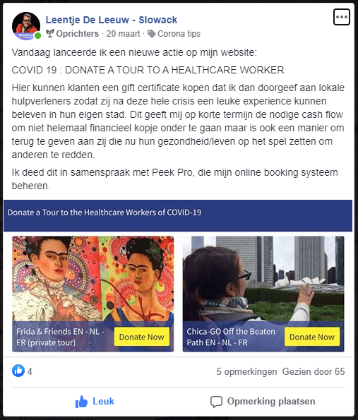 Chica-Go Donate a tour FB Community