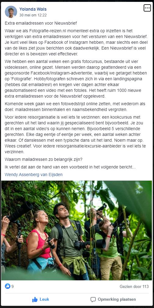 Fotografie-reizen.nl gratis fotocursus FB Community